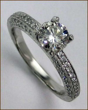 Landi Platinum and Diamond Ring