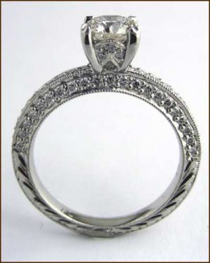 Landi Platinum and Diamond Ring side