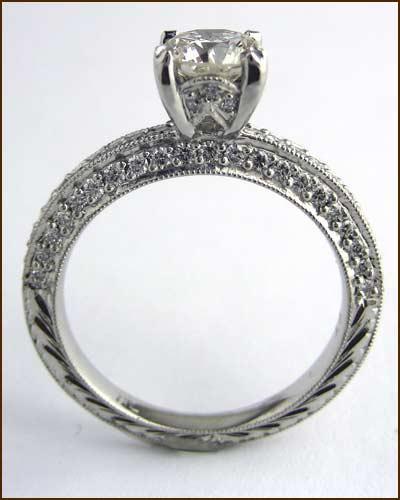 Landi Platinum and Diamond Ring side