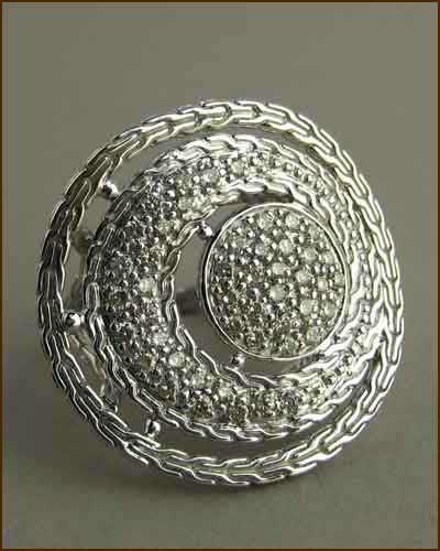 Langit Pave Diamond Coin Ring 884-2699