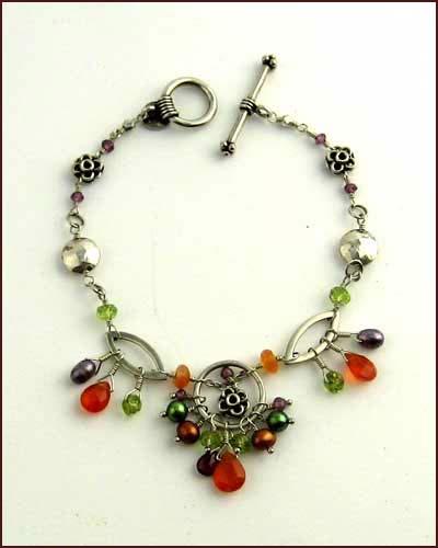 Laura Gibson Multi Gem Bracelet large