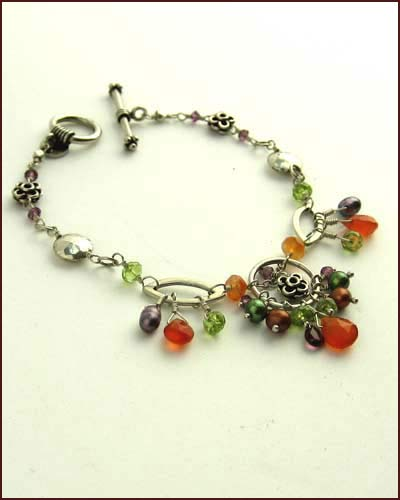 Laura Gibson Multi Gem Bracelet side