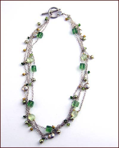 Laura Gibson Multi Gem Necklace 881-55