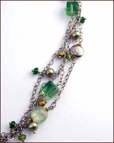 Laura Gibson Multi Gem Necklace 881-55 detail
