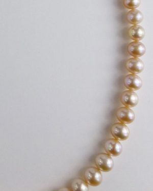 Pale Pink Pearl Necklace detail