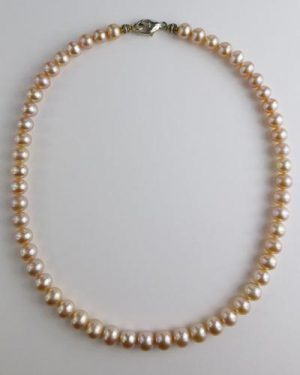 Pale Pink Pearl Necklace