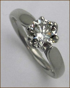 Palladium and Diamond Ring 1.07ct.