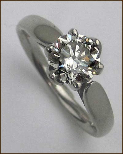 Palladium and Diamond Ring 1.07ct.