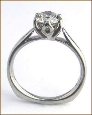 Palladium and Diamond Ring 1.07ct. side