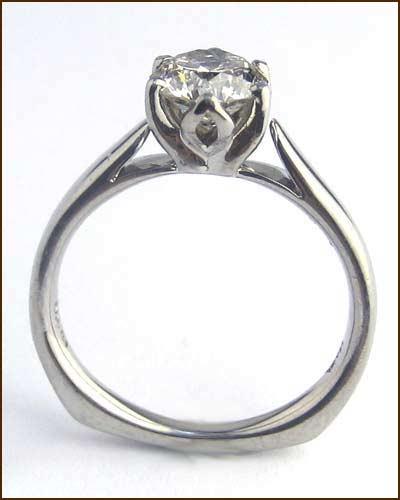 Palladium and Diamond Ring 1.07ct. side