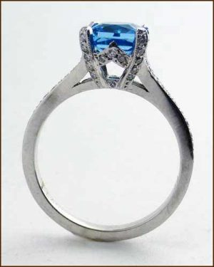 Platinum Diamond Blue Topaz Ring 480-297 side