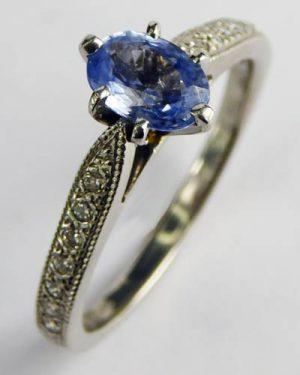 Platinum Sapphire Diamond Ring 880-3947