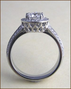 Platinum Significance Diamond Ring side