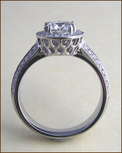 Platinum Significance Diamond Ring side