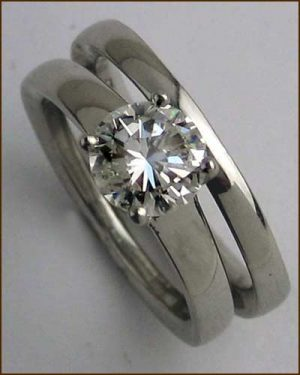 Platinum Wedding Set 1.02 ct