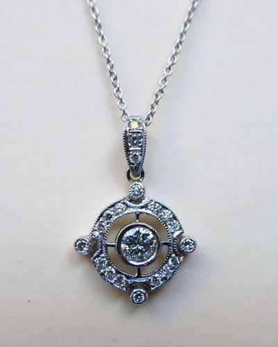 Richard Landi Plat. Dia. Necklace