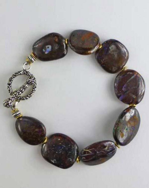 Silver Boulder Opal Bracelet B1805