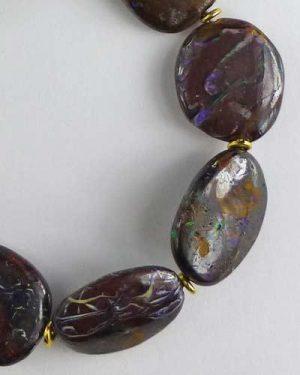 Silver Boulder Opal Bracelet B1805 detail