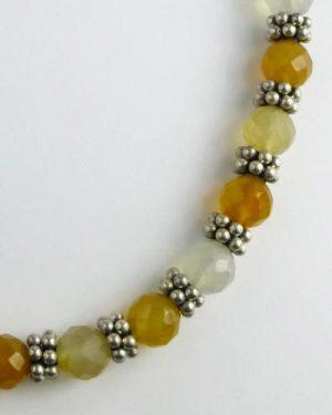Silver Carnelian Necklace B1806 detail