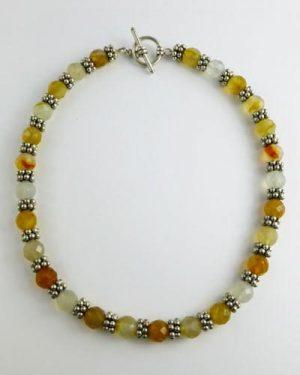 Silver Carnelian Necklace B1806