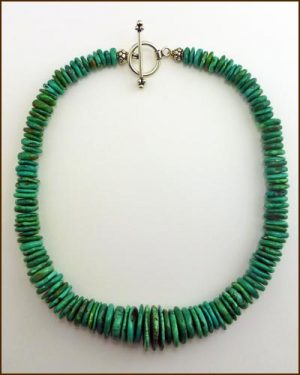 Silver Heavy Turquoise Necklace 886-7288