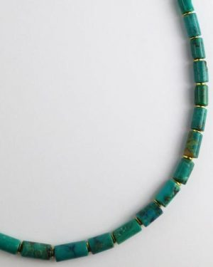 Silver Turquoise Necklace detail