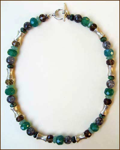 Silver and Gemstone Necklace 886-6731
