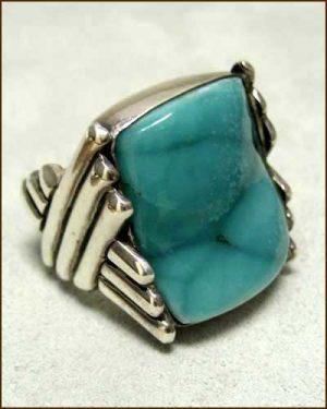 Sterling Silver Hemimorphite Ring