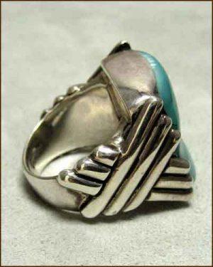 Sterling Silver Hemimorphite Ring side