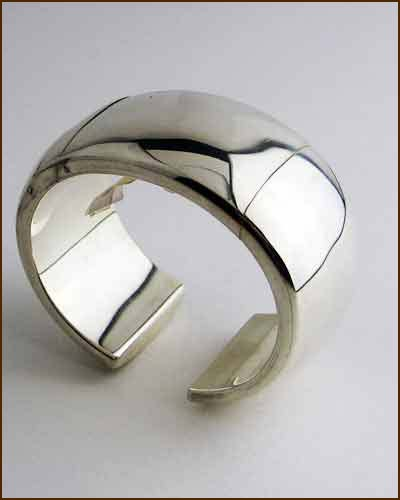 Sterling Silver Hinged Cuff