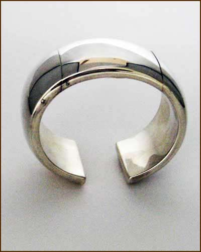Sterling Silver Hinged Cuff side