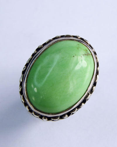 Sterling Silver Variscite Ring side