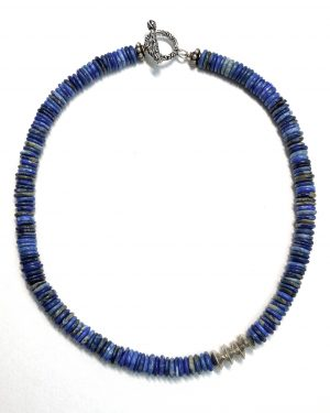 Britta Schoemer Silver Lapis Lazuli Necklace
